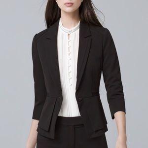 WHBM All-Season Peplum Jacket Feminine 3/4 Blazer